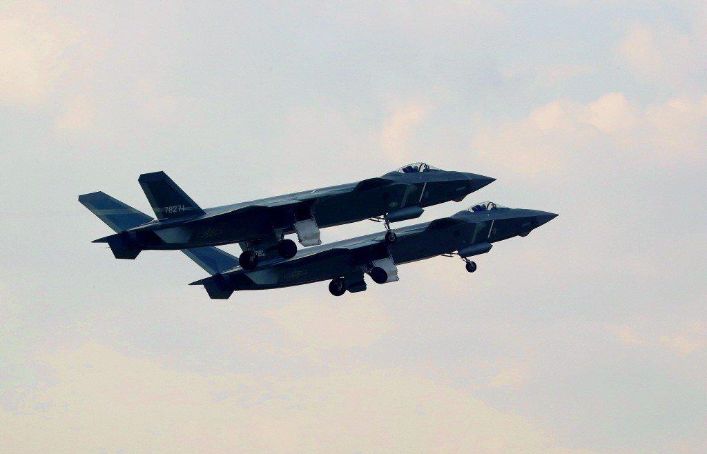 中國殲20戰機。新華社