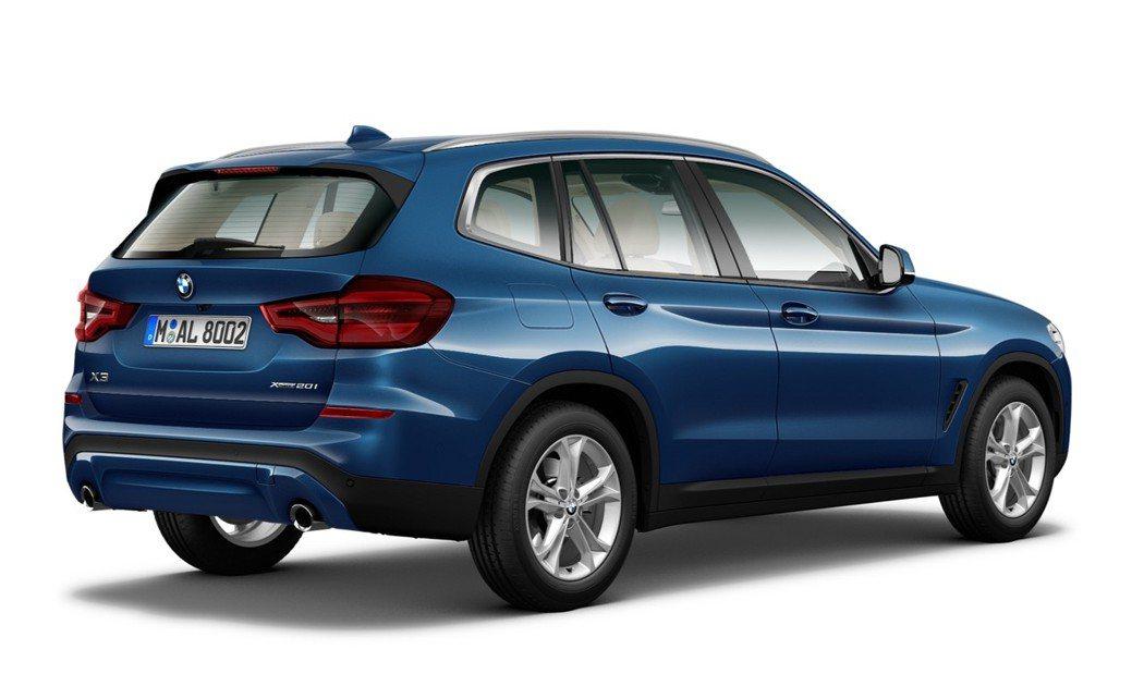 全新BMW X3 xDrive20i閃耀登場。 圖/汎德提供
