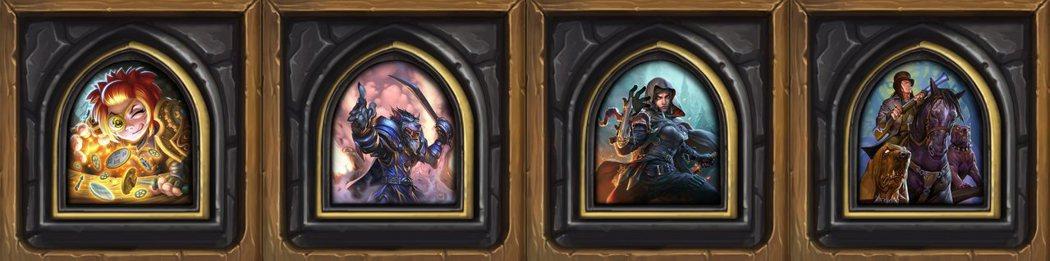 在「怪物獵殺」中可選用的四名專屬英雄