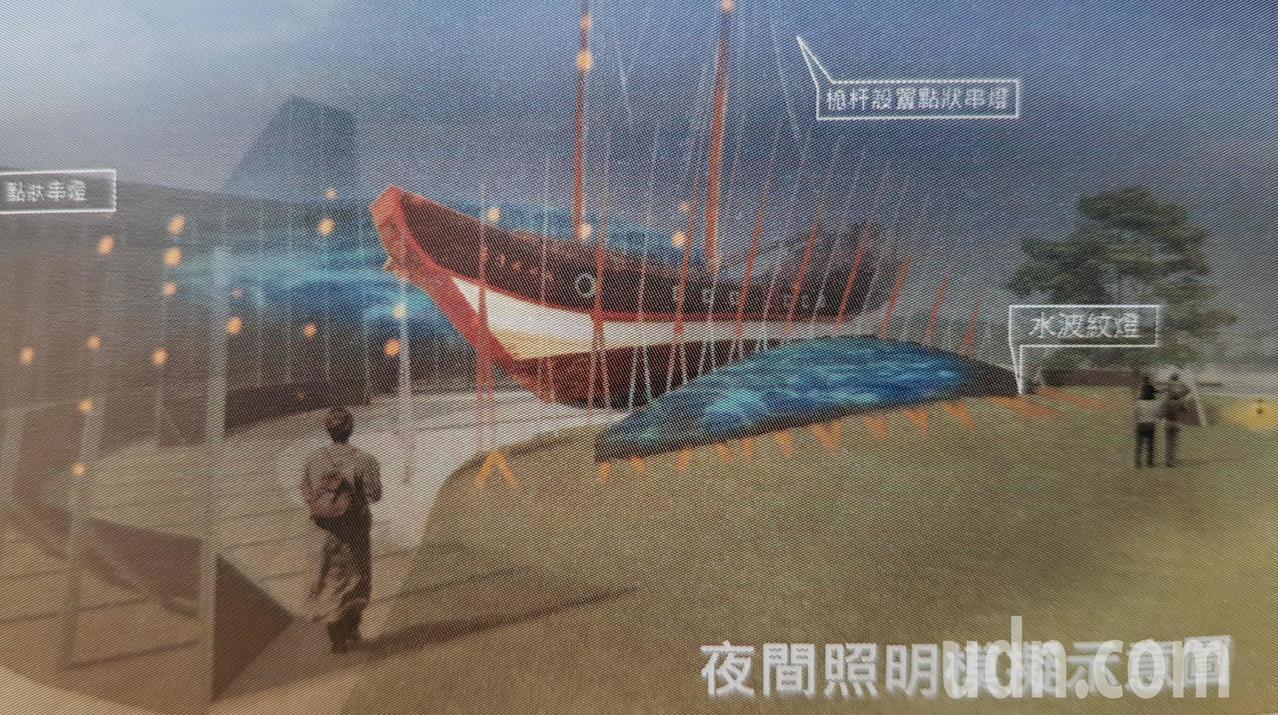 台灣船目前正進行周邊景觀工程,圖為未來完工的示意圖。圖/市府提供
