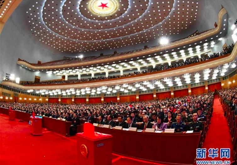 3月13日,十三屆全國人大一次會議在北京人民大會堂舉行第四次全體會議。圖/ 新華...