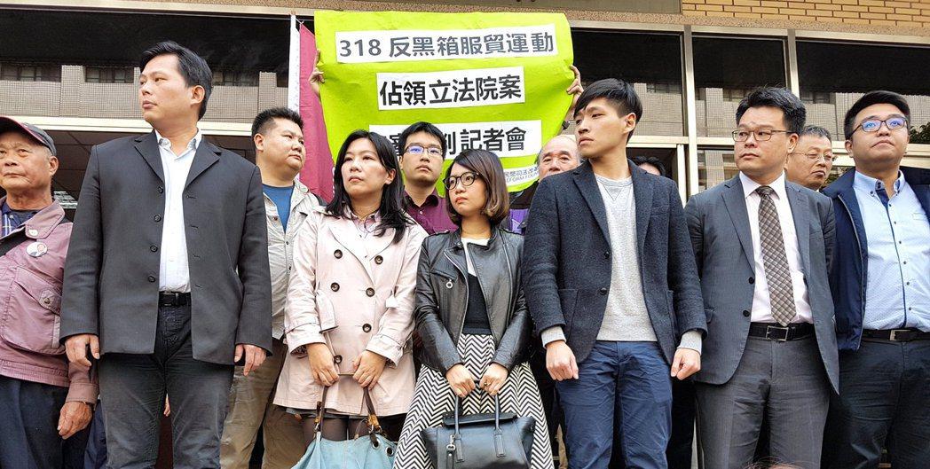 2014年立法院審查服貿協議,引爆「318太陽花」學運,台北地檢署依妨害公務等多...