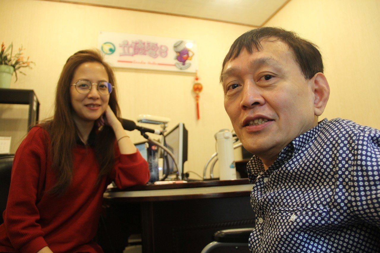 女星李淑楨(左)與廣播主持人劉銘因戲結緣,後來受邀到台北看守所獻聲,分享正向思考...