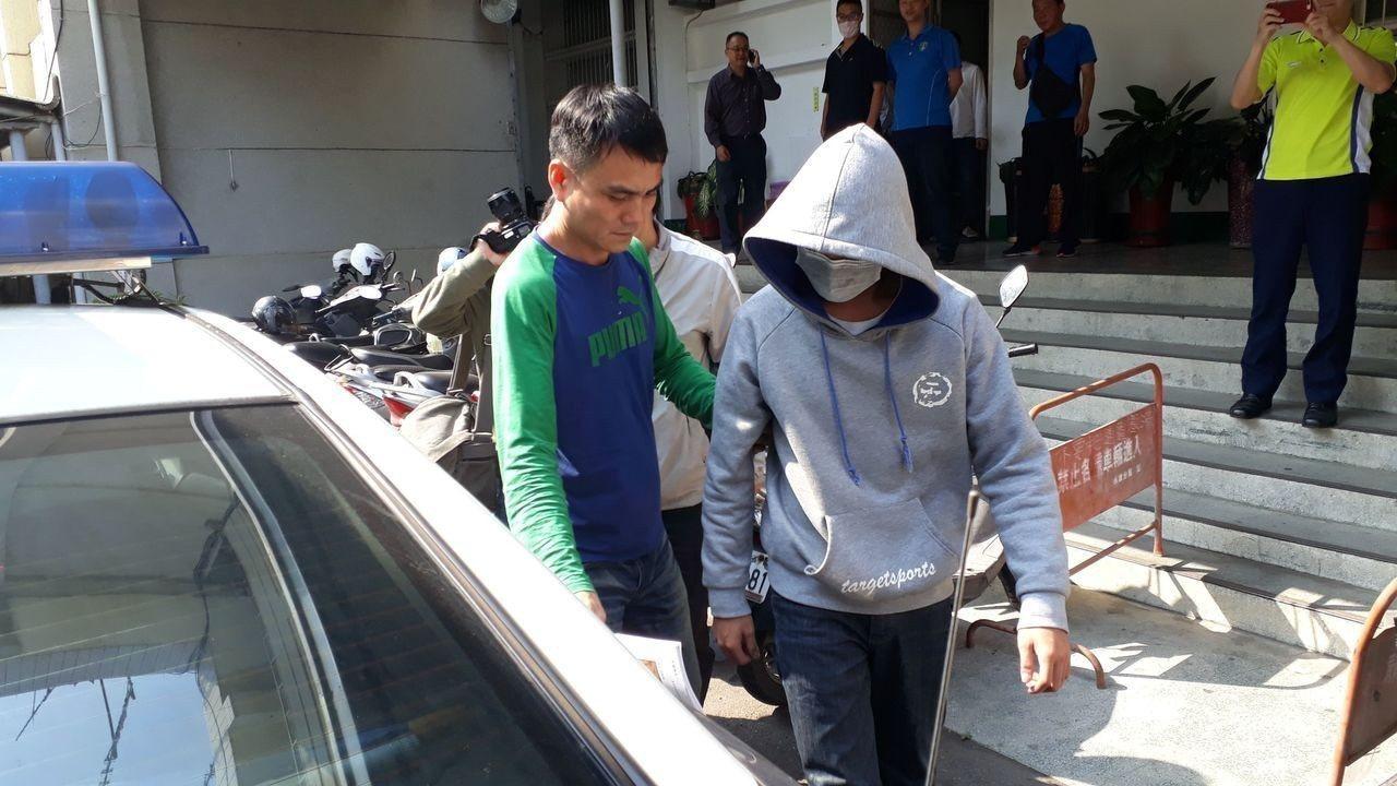 警方訊後下午將陳嫌移送法辦。記者周宗禎/攝影