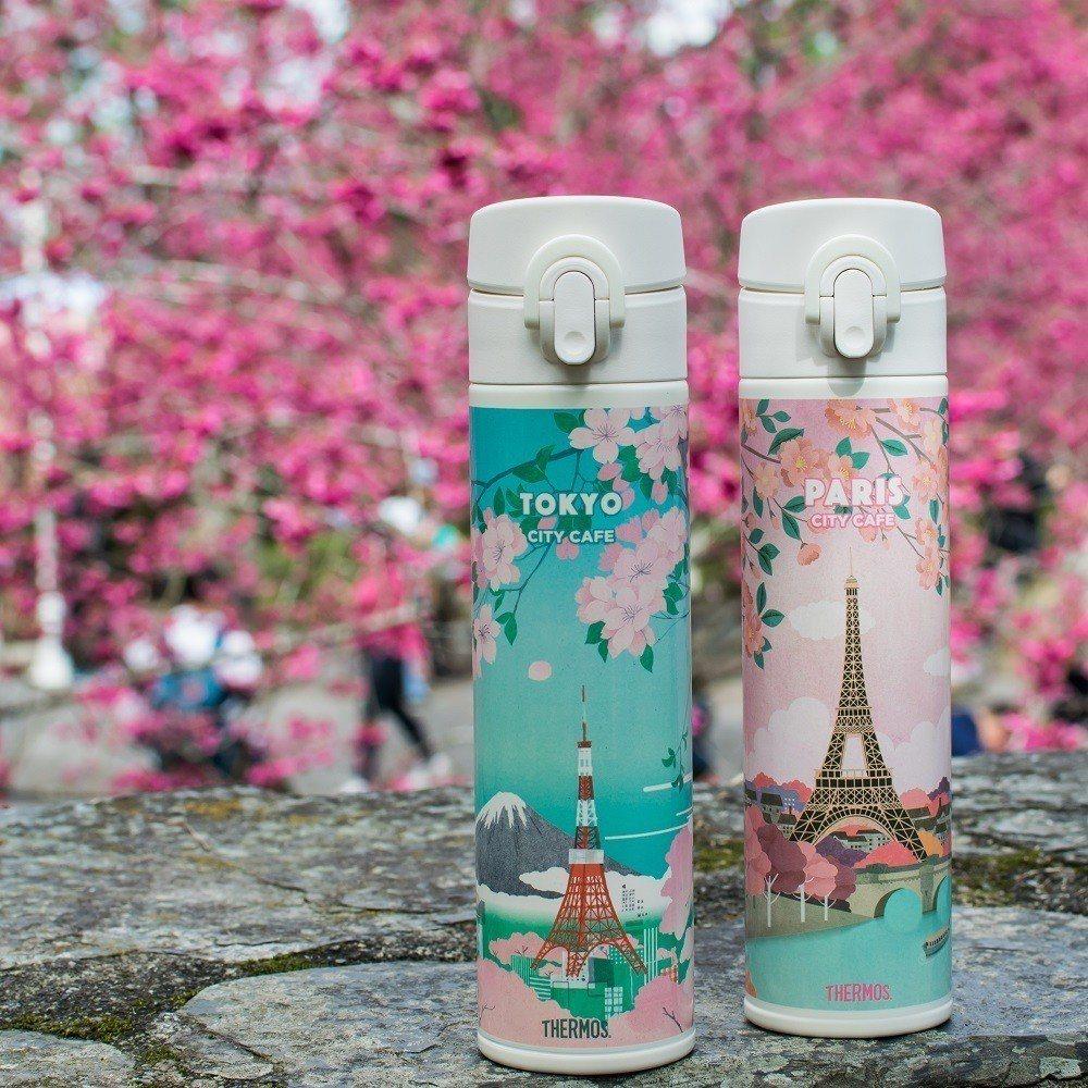 CITY CAFE城市櫻花季周邊商品限量預購活動,推出櫻花限量保溫瓶。圖/7-E...