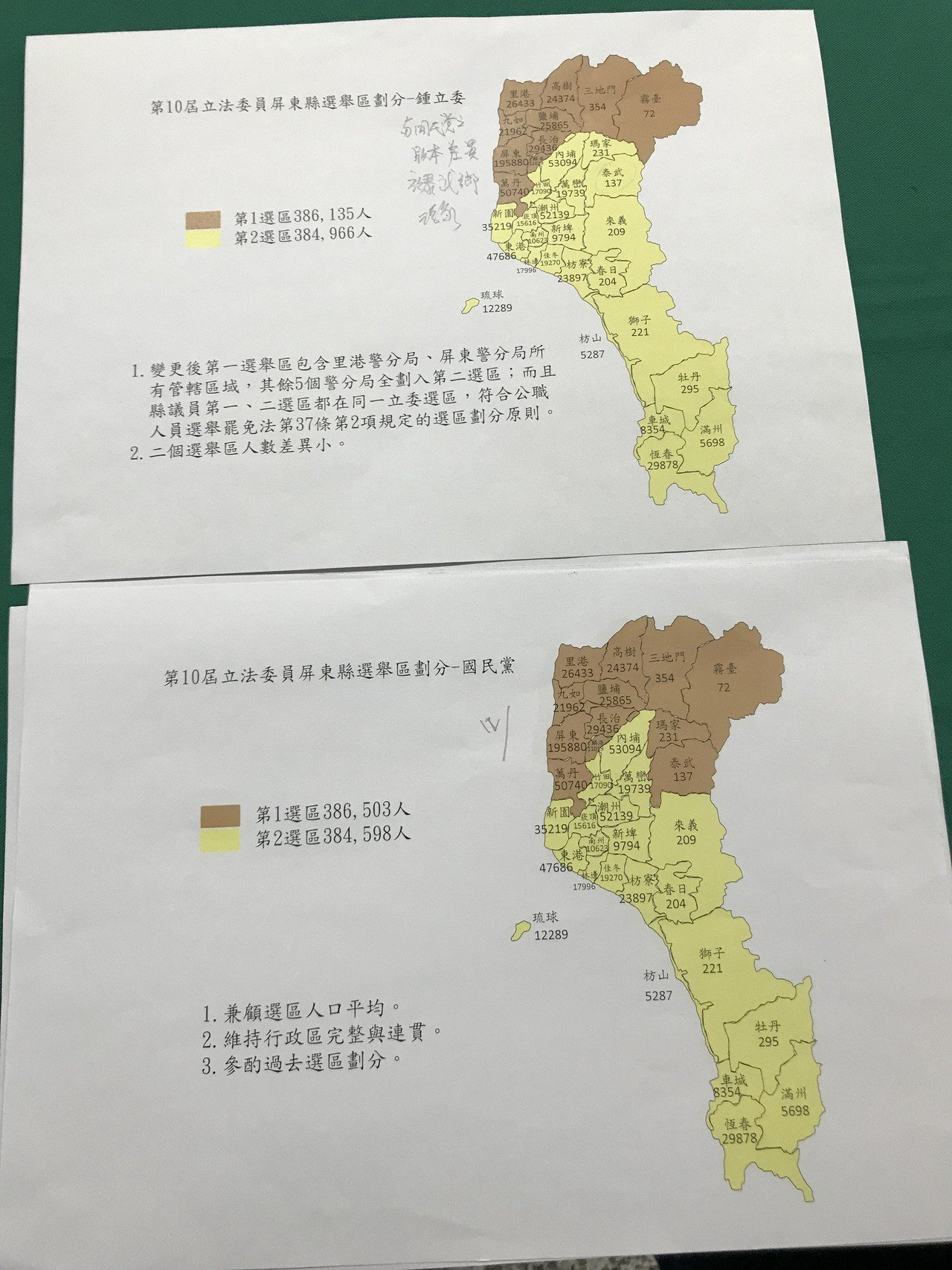 今天公聽會分別有立委鍾佳濱、國民黨、親民黨各自提出選區劃分意見。記者蔣繼平/攝影