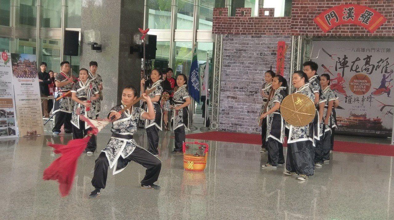 一年一度的高雄內門宋江陣活動,今年將於3月24日至4月8日舉行。記者蔡孟妤/攝影