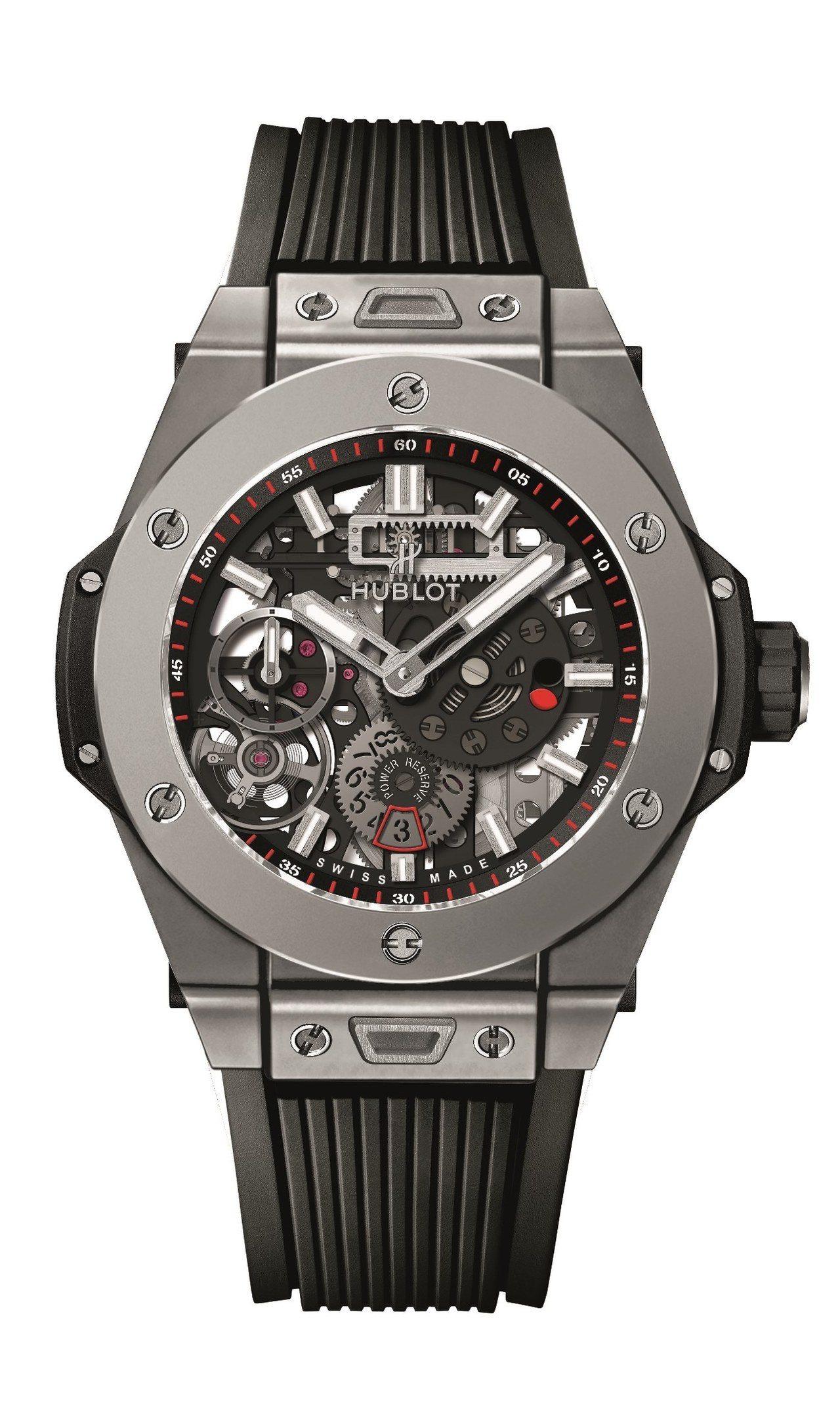 擁有10天動力儲存的Big Bang Meca-10腕表是名廚亞尼克的首選,鈦金...