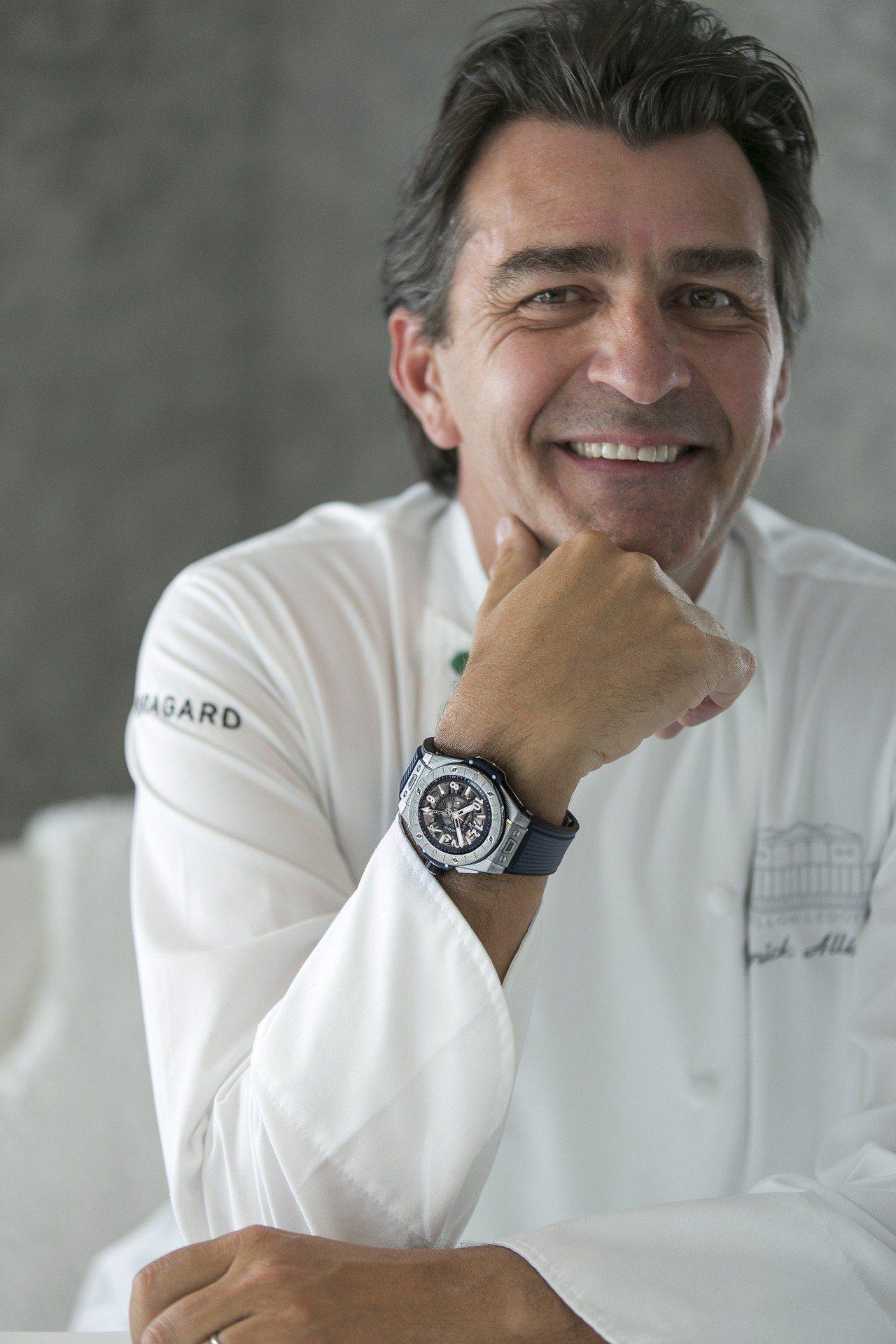 三星名廚亞尼克近日成為了宇舶表的品牌大使之一。圖/Hublot提供