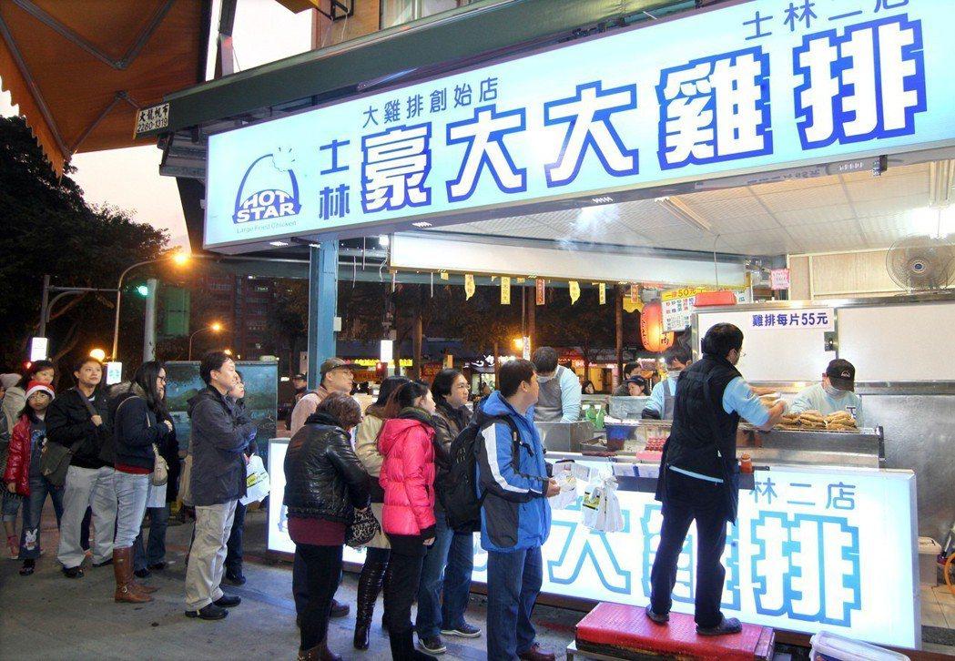 豪大大雞排是夜市的經典小吃。圖/資料照片
