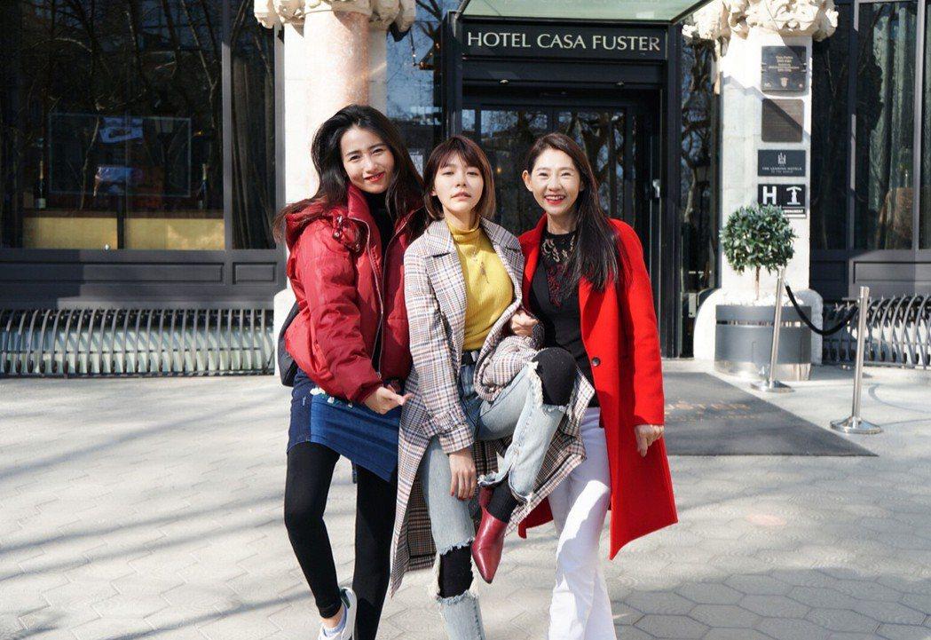 林明禎帶媽媽、姐姐遊4國。圖/種子提供