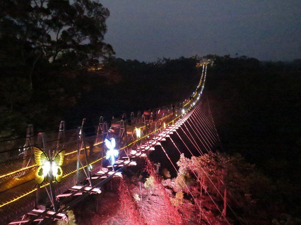 南投市八卦山天空之橋,啟用後人氣很旺,3個月即回本。圖/報系資料照