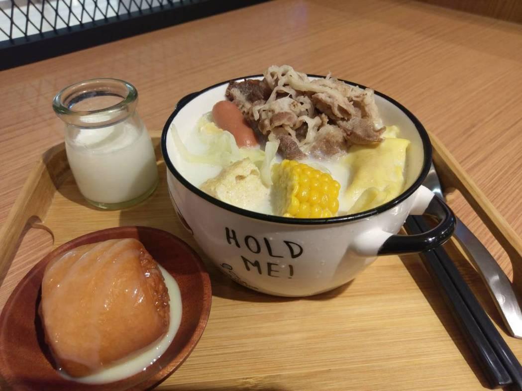火鍋業者開發各式口味,還引進日本著名生乳做湯底。記者謝梅芬/攝影