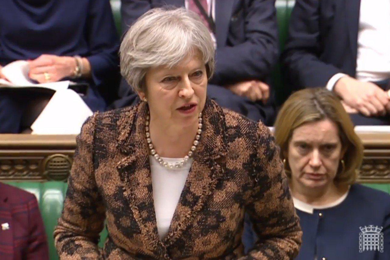 英國首相梅伊向俄國下通牒,限24小時內就案件作出解釋。(法新社)