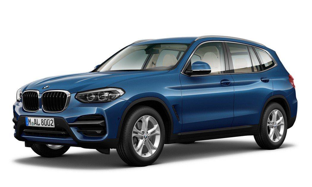 全新BMW X3 xDrive20i以車系入門之姿強化整體陣容。圖/汎德提供