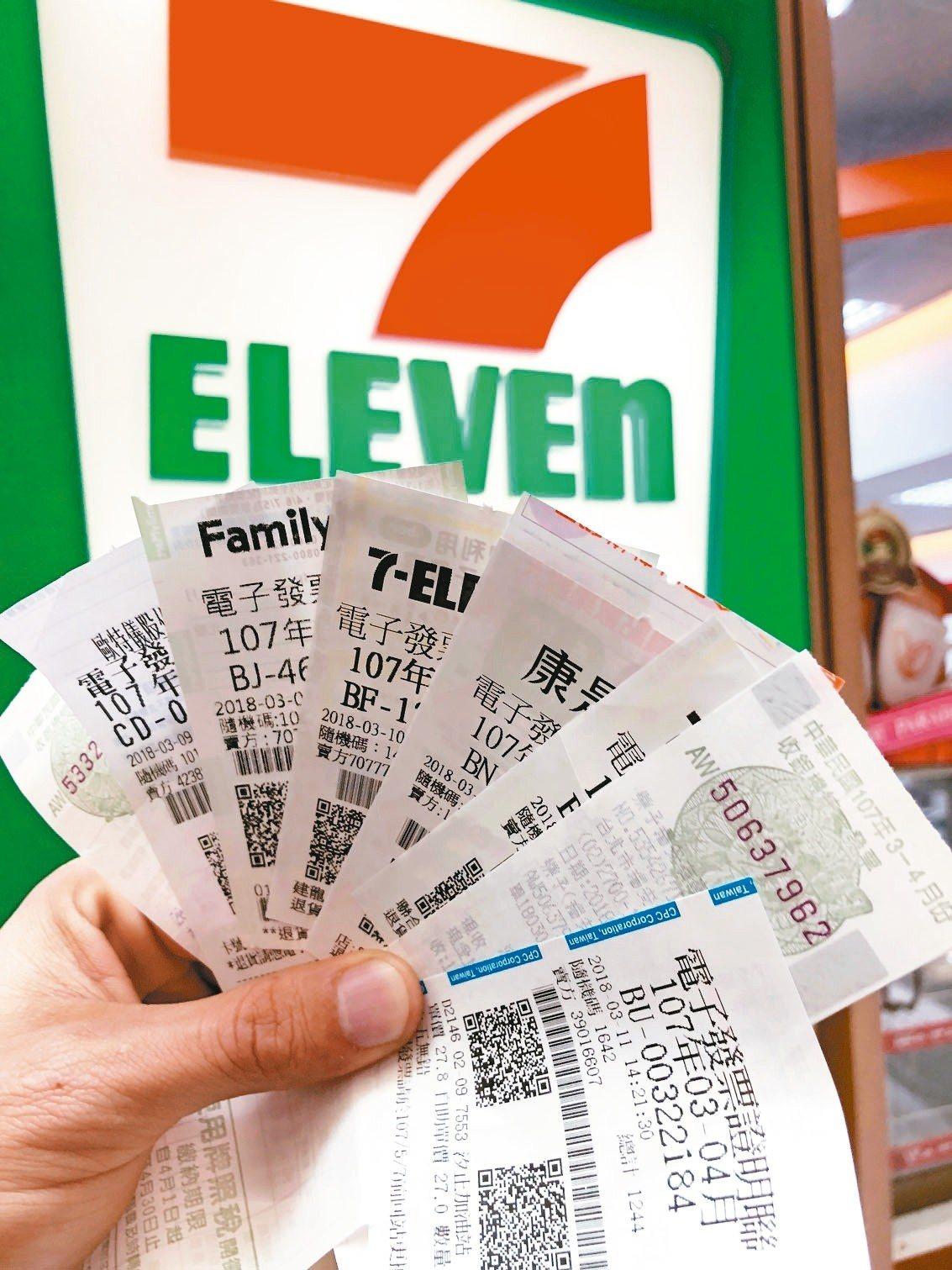 明年起,統一發票千元以下獎項可直接在便利商店、超市領取。 記者陳易辰/攝影
