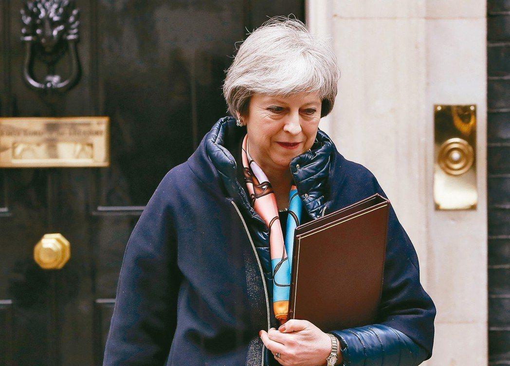 英國首相梅伊十二日公開限令俄國廿四小時內對俄國前間諜在英國遭下毒案提出解釋。 圖...