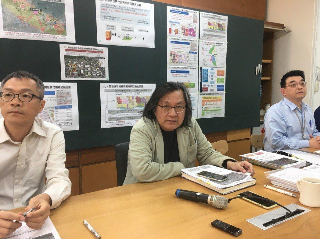台北市都發局長林洲民昨天表示,大巨蛋設計最大癥結點,在於不符合建築技術規則第97...