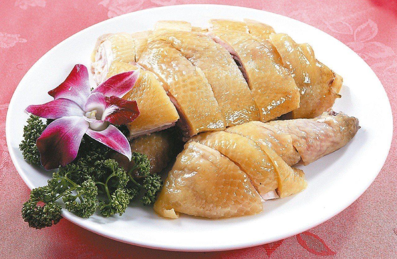 明福台菜主廚未出席米其林媒體發布會,圖為明福台菜「白斬雞」。本報系資料照片