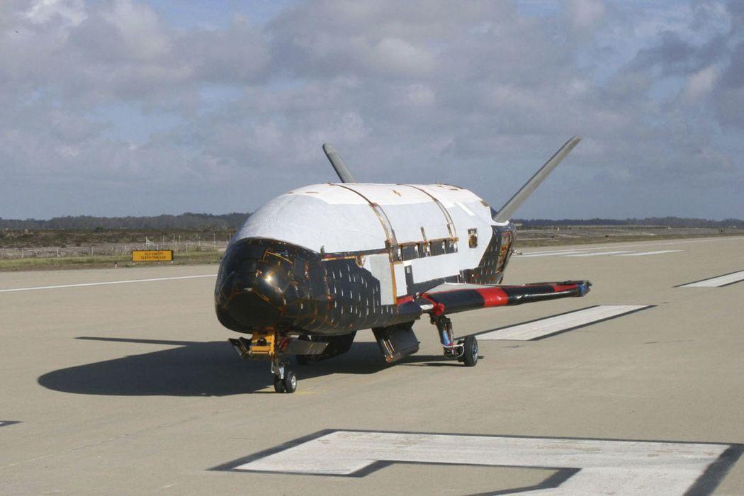美國空軍的X-37B太空飛行器。 美聯社