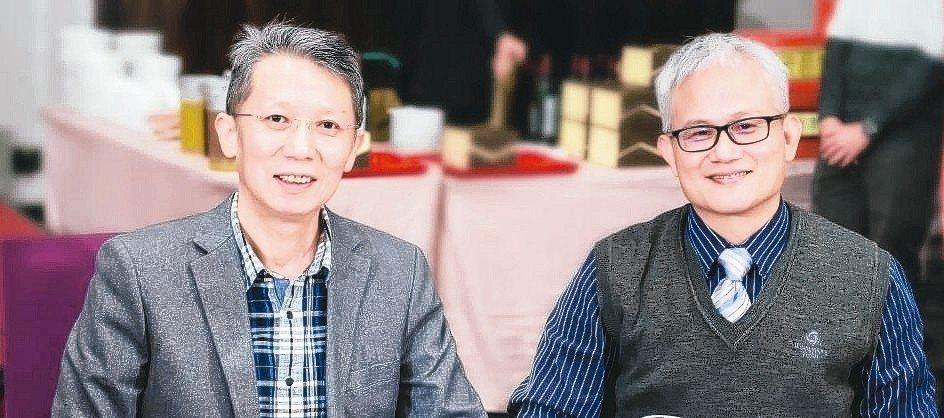 汎銓科技董事長柳紀綸(左)、技術長陳榮欽博士。 翁永全/攝影