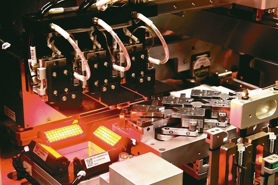 全球挖礦熱,竑騰科技散熱片點膠植片設備出貨量一支獨秀。 竑騰科技/提供