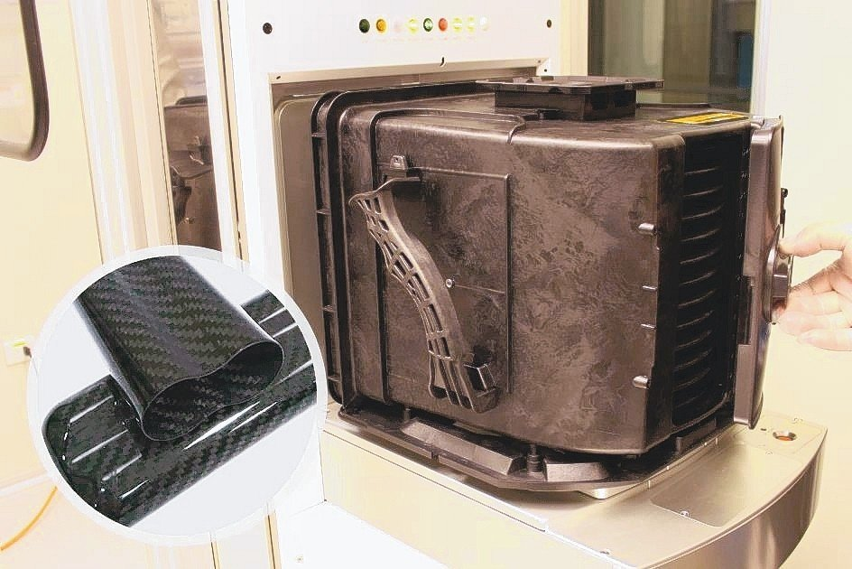 中勤實業的耐高溫12吋晶圓傳送盒FOUP搭配活動後視窗及CFRP碳纖維複合材料-...