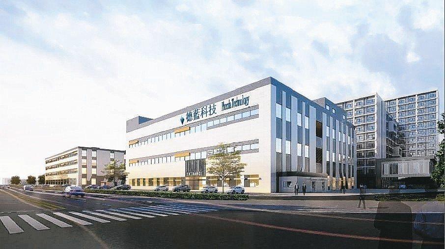 德晶科技子公司德藍科技設於江西南昌的新廠示意圖。 德晶/提供
