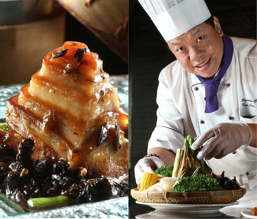 拿下米其林三星餐廳的君品酒店「頤宮」與主廚陳偉強。 圖╱聯合報系資料照片