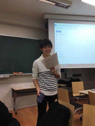 圖為該名男大生。擷自德永日丸推特。