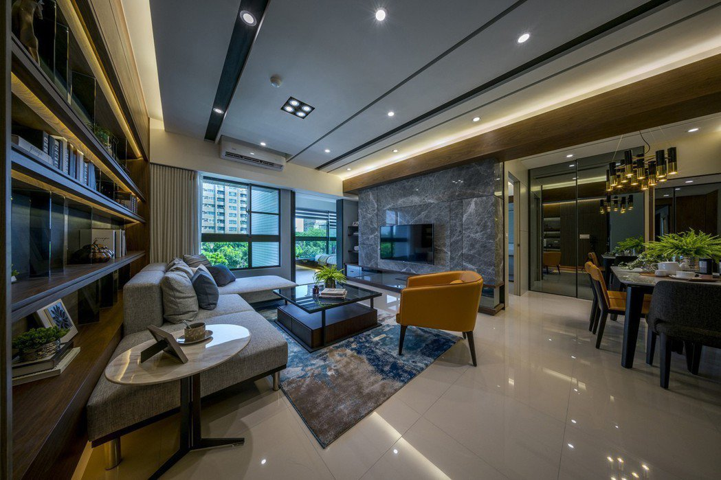 三、四房格局客廳可直接面對公園。 圖片提供/興璟建設