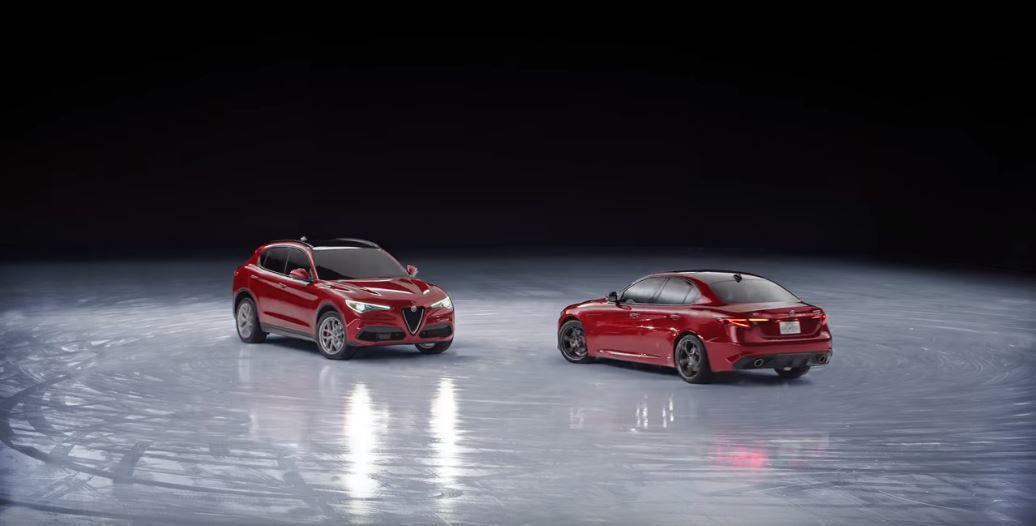 兩車同時使出Dount特技。 截自Alfa Romeo USA
