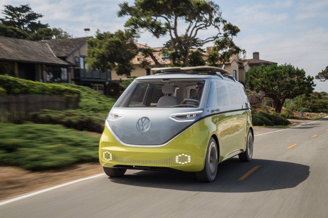 圖為Volkswagen I.D. Buzz Concept。 摘自Volksw...