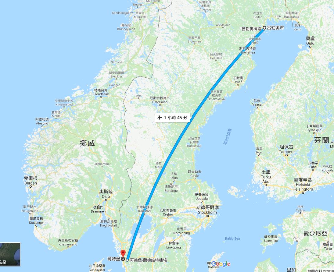 瑞典民航業者搞烏龍,將34名乘客送錯航班,落地竟遠離目的地970公里遠。 圖/G...
