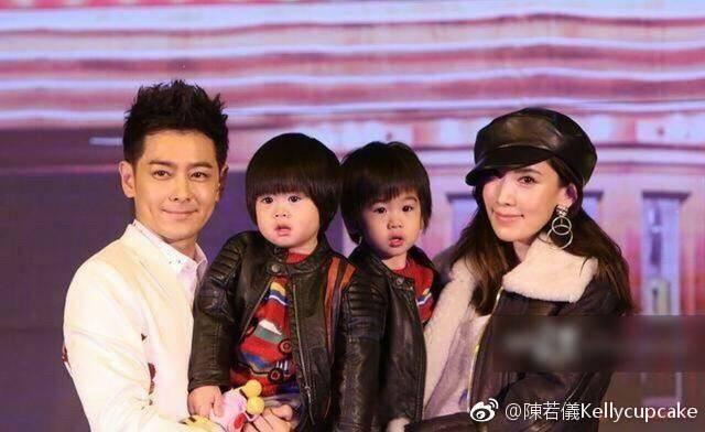陳若儀帶雙胞胎兒子為林志穎站台。圖/摘自微博