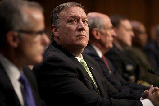 美國新任國務卿龐培歐(中)獲川普充分信賴。 (法新社)