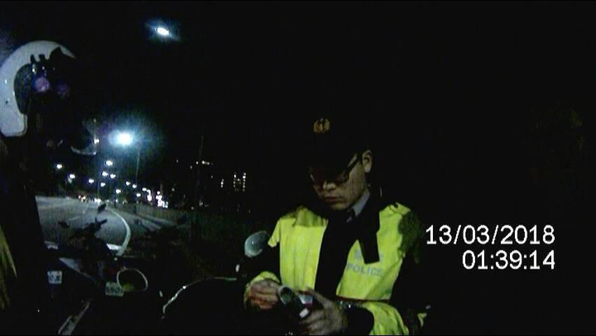 廖男心虛換駕駛反被査獲酒駕。圖/警方提供