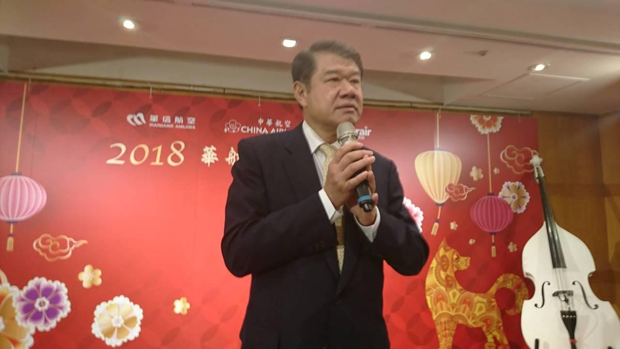 董事長何煖軒看好今年營運展望。 記者黃淑惠/攝影