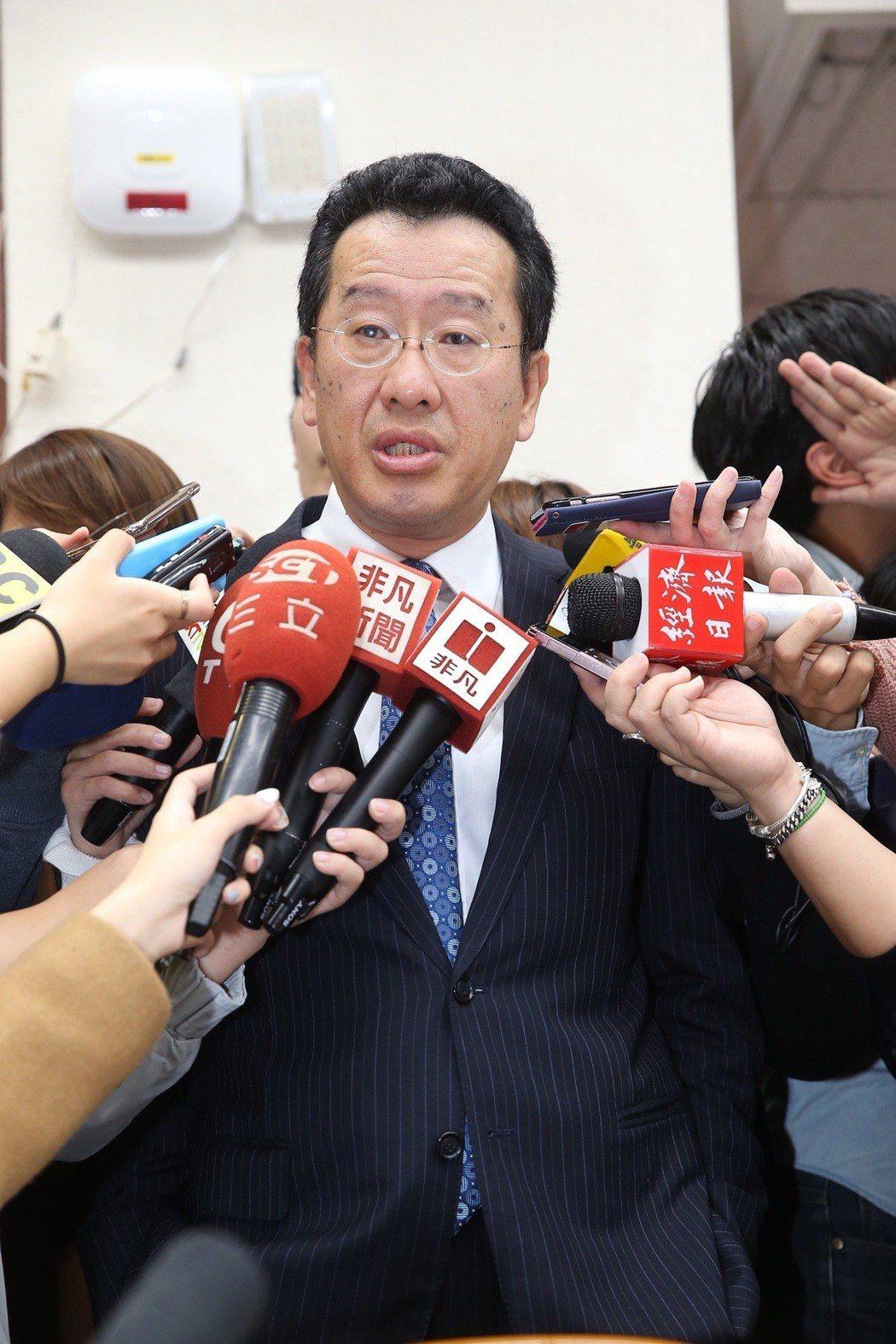 金管會主委顧立雄說,相對大陸,台灣資本市場有5大優勢。記者高彬原/攝影 。