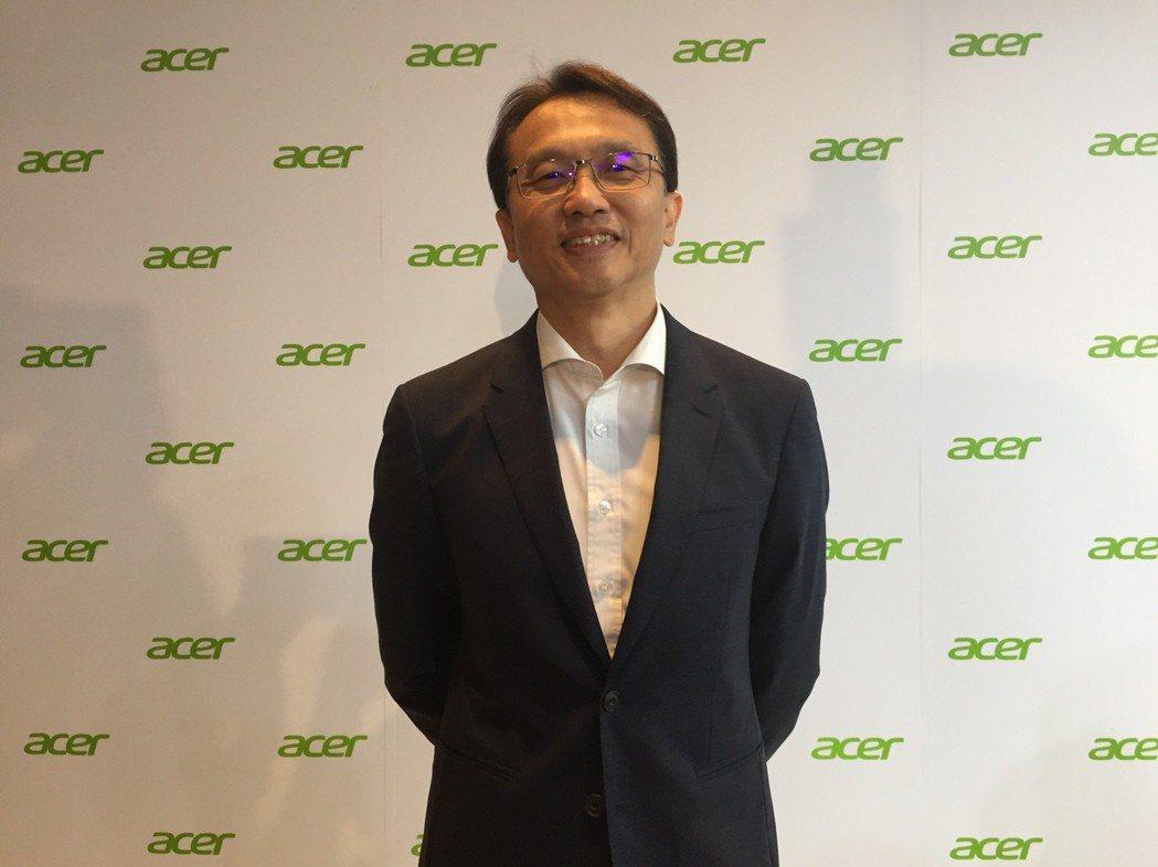 宏碁董事長陳俊聖首度以董座身份主持宏碁供應商大會。記者曾仁凱/攝影