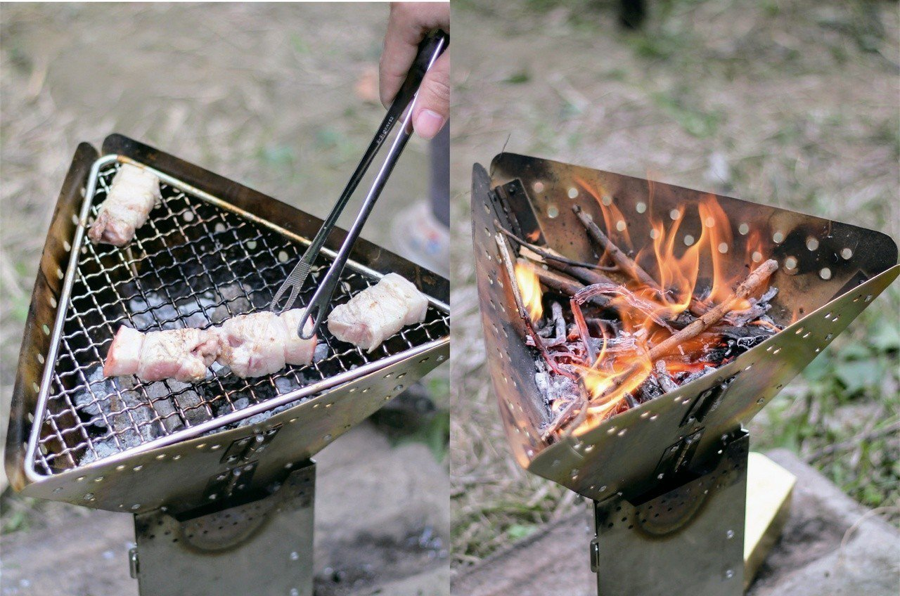 使用咖啡渣回收利用後製成的火種,比一般火種燃燒效能更好。圖/教育部提供