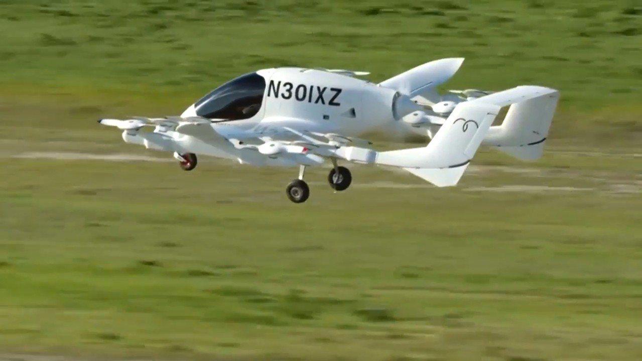 谷歌共同創辦人佩吉投資的空中計程車公司「Kitty Hawk」,13日公布「Co...