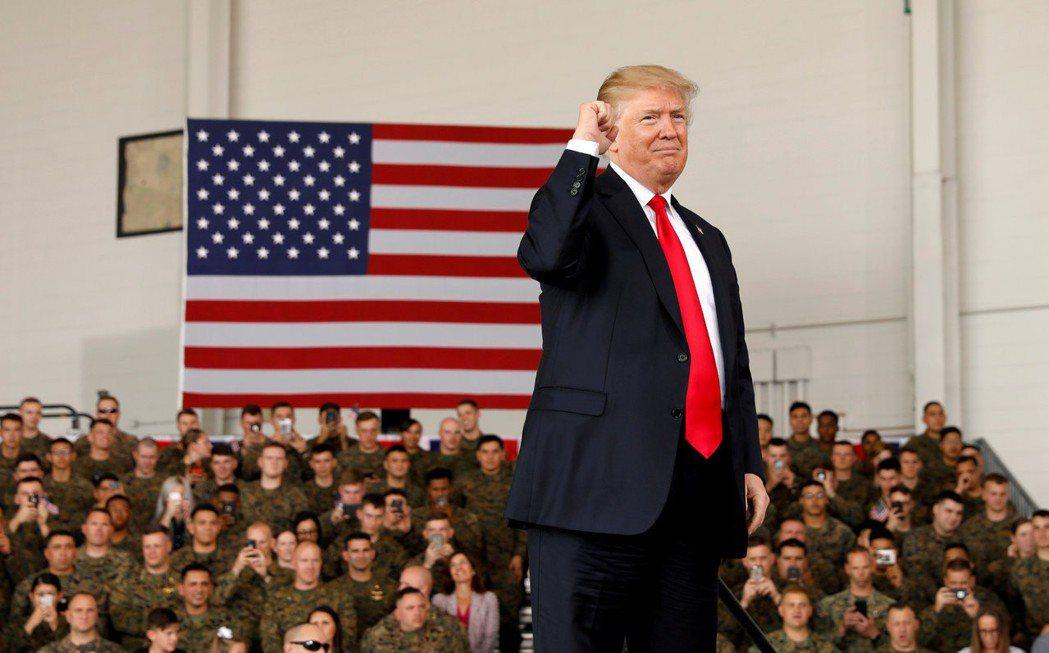 彭博報導,美國總統川普在對中貿易問題上要打「台灣牌」。(路透)