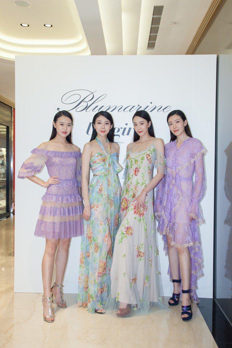 Blumarine發表春夏系列新裝,本季以「愛的海洋」為靈感,利用輕盈面料打造出...