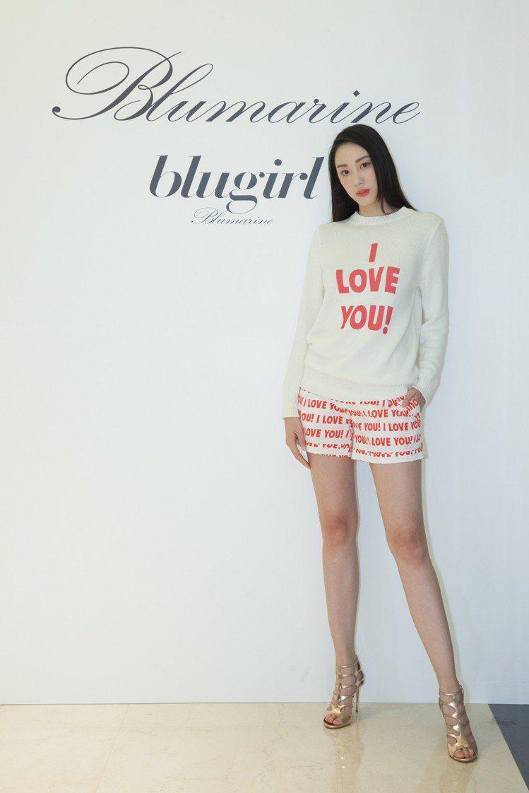 張敏紅展演Blugirl 2018春夏新品。圖/Blumarine提供