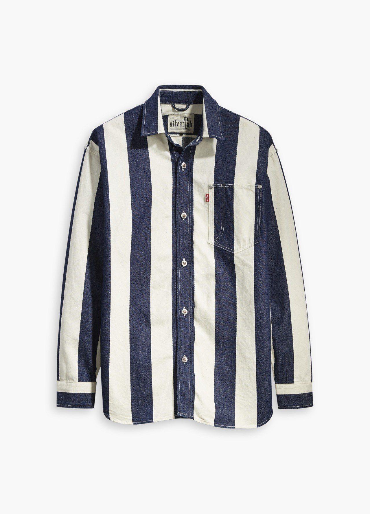 Levis銀標系列寬條紋工作外套,約2,690元。圖/Levis提供