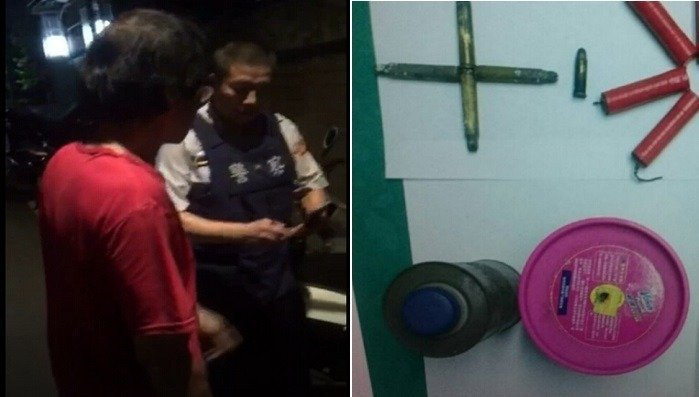李姓男子自製爆裂物丟入市調處內,遭警方逮捕。圖/報系資料照片