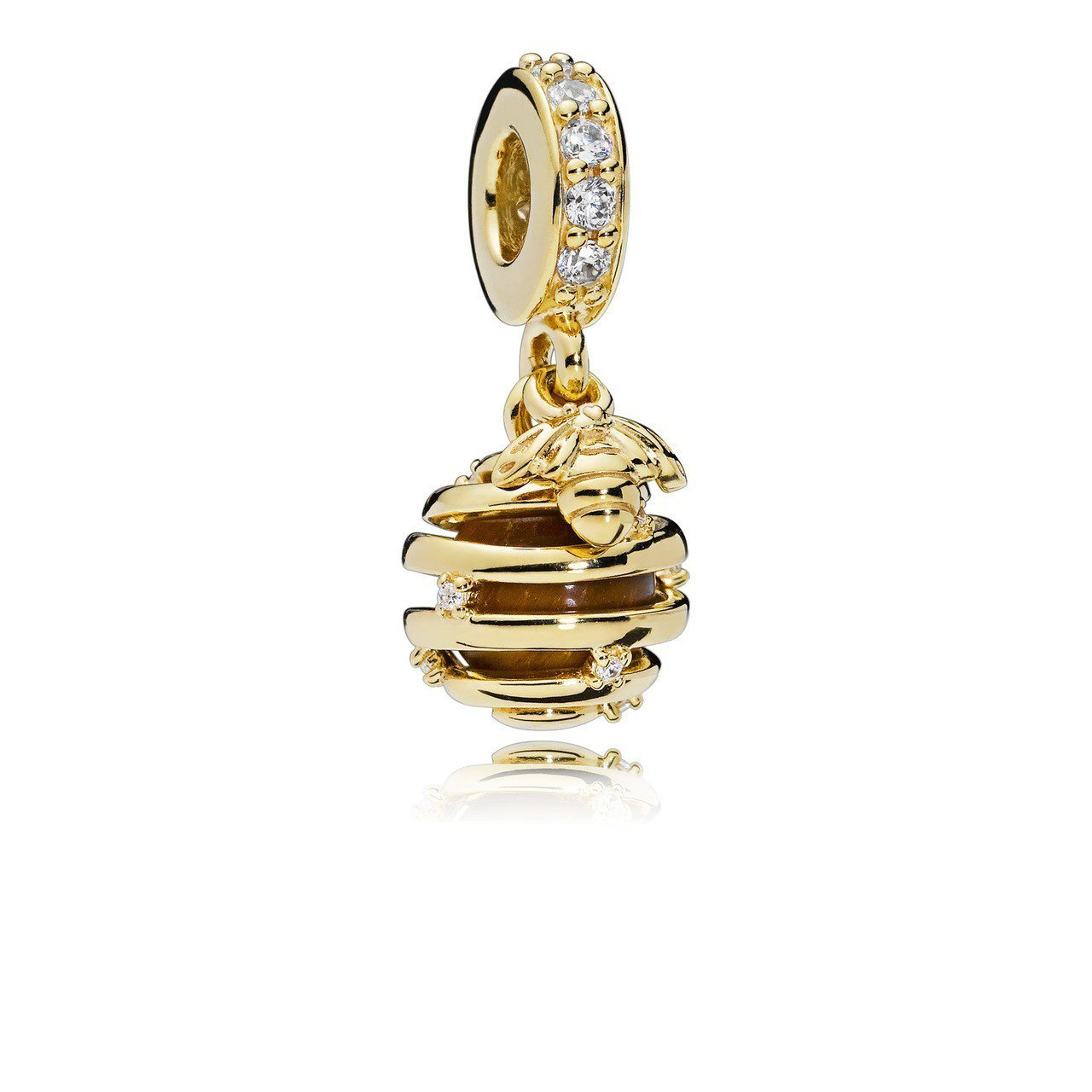 PANDORA SHINE甜蜜蜂窩鋯石吊飾 3,880元。圖/PANDORA提供