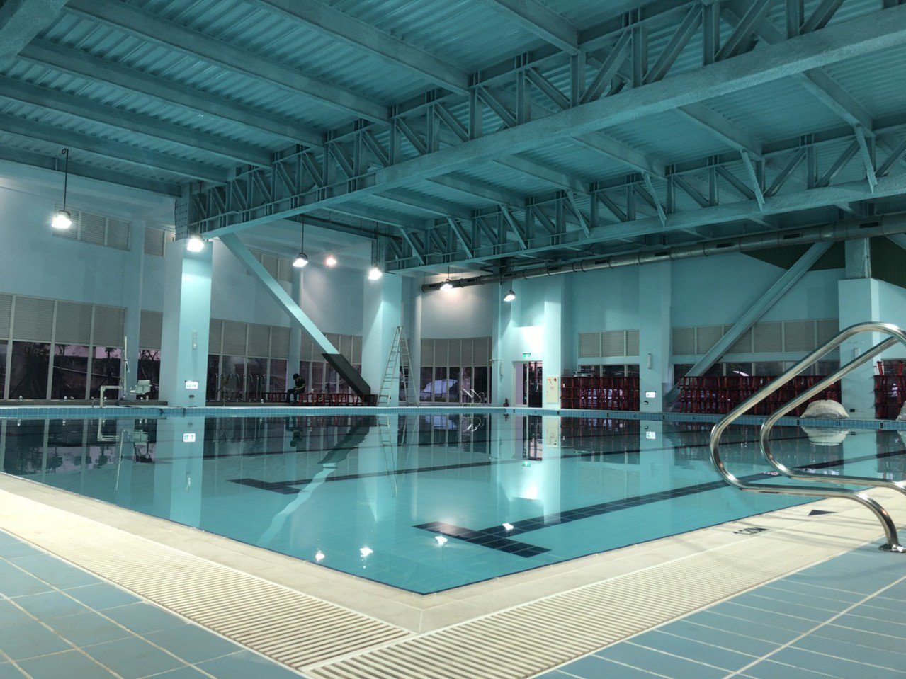 嘉義市國民運動中心的游泳池屬自來水、溫水游泳池。記者王慧瑛/攝影