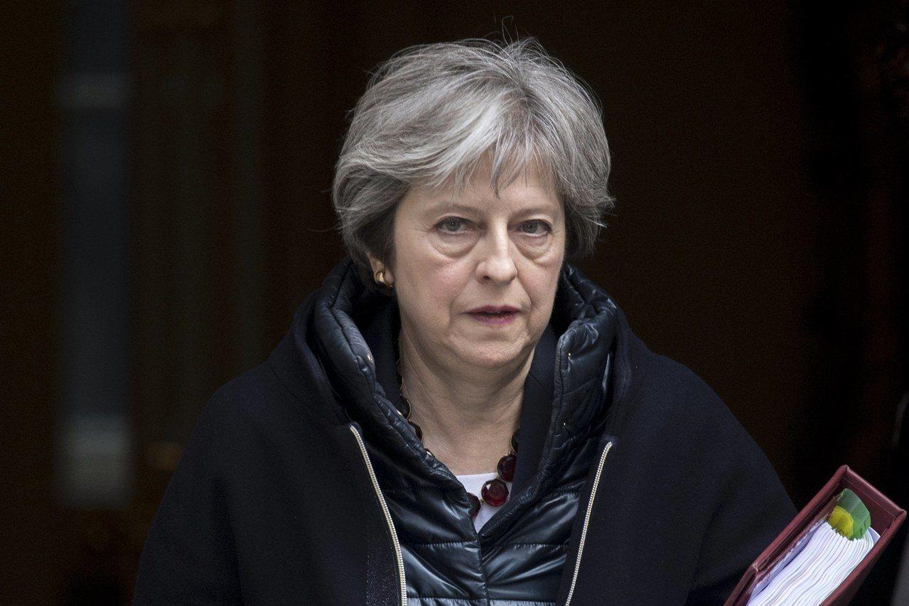 英國首相梅伊14日宣布,驅除23名俄羅斯外交人員。 歐新社